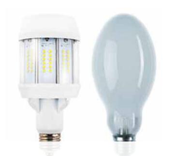 Ovoïde vapeur de mercure LED